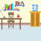 Progettazione della sala di lettura illustrazione di stock