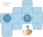 Progettazione della scatola del profumo Fotografia Stock Libera da Diritti