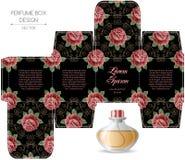 Progettazione della scatola del profumo Fotografia Stock