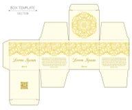 Progettazione della scatola, stampa con matrice di acciaio Fotografia Stock Libera da Diritti