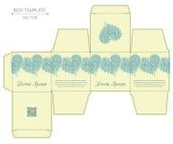 Progettazione della scatola, stampa con matrice di acciaio Immagine Stock