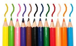 Progettazione della scuola della penna di colore Immagini Stock Libere da Diritti
