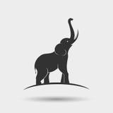 Progettazione della siluetta dell'elefante Fotografie Stock Libere da Diritti