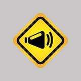 progettazione della siluetta dell'icona del DJ Fotografia Stock