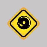 progettazione della siluetta dell'icona del DJ Fotografia Stock Libera da Diritti