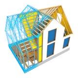 progettazione della struttura della casa Fotografia Stock Libera da Diritti