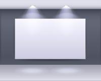 Progettazione della struttura di galleria di arte con i riflettori illustrazione vettoriale