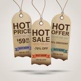 Progettazione delle etichette di vendita Immagini Stock