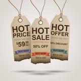 Progettazione delle etichette di vendita Immagine Stock