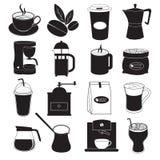 Progettazione delle icone del caffè Fotografie Stock