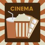 Progettazione delle icone del cinema Immagine Stock