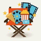 Progettazione delle icone del cinema Fotografie Stock Libere da Diritti