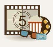 Progettazione delle icone del cinema Fotografia Stock Libera da Diritti