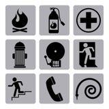 Progettazione delle icone del fuoco Fotografia Stock Libera da Diritti