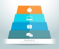 Progettazione delle icone della piramide di Infographic 3d Immagine Stock Libera da Diritti