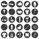 Progettazione delle icone di golf sopra fondo bianco Fotografia Stock Libera da Diritti