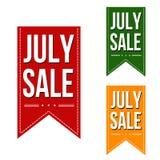 Progettazione delle insegne di vendita di luglio Fotografia Stock