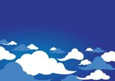 Progettazione delle nuvole sopra il fondo del cielo Immagine Stock Libera da Diritti