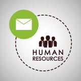 Progettazione delle risorse umane Icona della gente Concetto degli impiegati Fotografia Stock