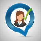 Progettazione delle risorse umane Icona della gente Concetto degli impiegati Immagine Stock
