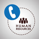 Progettazione delle risorse umane Icona della gente Concetto degli impiegati Fotografia Stock Libera da Diritti