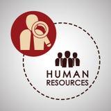 Progettazione delle risorse umane Icona della gente Concetto degli impiegati Fotografie Stock