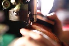 Progettazione delle scarpe, calzolaio di occupazione Fotografia Stock