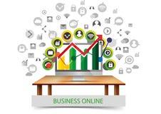 Progettazione di affari di comunicazione della rete sociale royalty illustrazione gratis