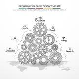 Progettazione di affari di vettore di Infographics Fotografia Stock Libera da Diritti