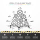 Progettazione di affari di vettore di Infographics Fotografie Stock