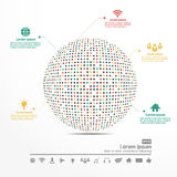 Progettazione di affari di vettore di Infographics Immagini Stock Libere da Diritti