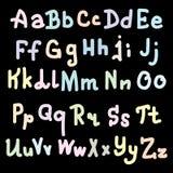 Progettazione di alfabeto di Colorfull su fondo nero Illustrazione di vettore, ENV 10 Fotografia Stock Libera da Diritti
