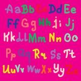 Progettazione di alfabeto di Colorfull su fondo rosa Illustrazione di vettore, ENV 10 Fotografie Stock Libere da Diritti