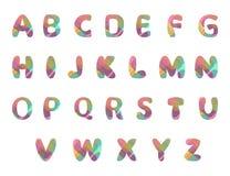 Progettazione di alfabeto inglese con gli elementi variopinti per la vostra progettazione illustrazione vettoriale