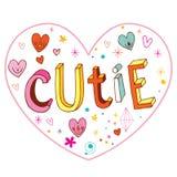 Progettazione di amore a forma di cuore di Cutie illustrazione vettoriale