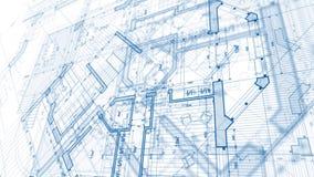 Progettazione di architettura: piano del modello illustrazione di stock