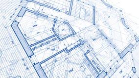 Progettazione di architettura: piano del modello - illustrazione di un MOD di piano illustrazione di stock