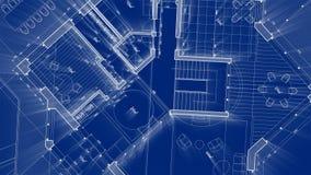 Progettazione di architettura: pianta della casa astratta del modello royalty illustrazione gratis