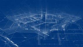 Progettazione di architettura: pianta della casa astratta del modello illustrazione vettoriale