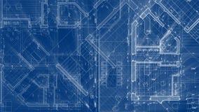 Progettazione di architettura: pianta della casa astratta del modello illustrazione di stock