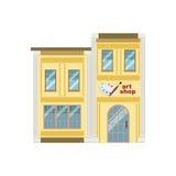 Progettazione di Art Shop Commercial Building Facade illustrazione di stock