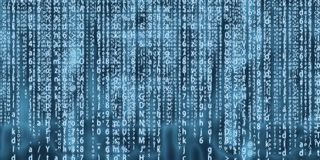 Progettazione di arte del fondo della matrice del computer Cifre sullo schermo Dati grafici di concetto dell'estratto, tecnologia fotografie stock