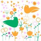 Progettazione di arte dell'uccello dell'illustrazione della natura di vettore illustrazione di stock