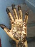 Progettazione di arte della mano in manuale immagini stock