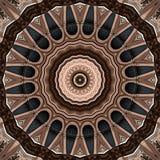 Progettazione di arte di Digital, caleidoscopio visto attraverso facciata di stile Liberty illustrazione di stock