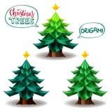 Progettazione di arte di origami dell'albero di Natale illustrazione vettoriale