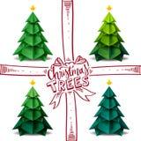 Progettazione di arte di origami dell'albero di Natale royalty illustrazione gratis