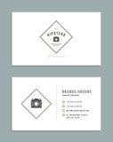 Progettazione di biglietto da visita e retro Logo Template Stile d'annata dell'elemento di progettazione di vettore per il Logoty Fotografie Stock Libere da Diritti
