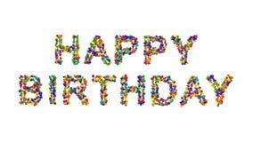 Progettazione di biglietto di auguri per il compleanno felice creativa variopinta Immagini Stock Libere da Diritti
