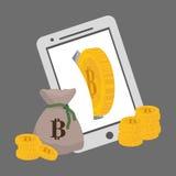 Progettazione di Bitcoin Fotografia Stock
